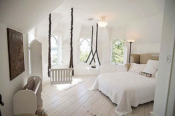 室内卧室吊椅布置摆放图
