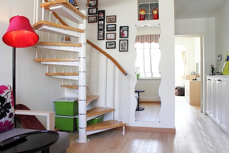 浪漫宜家风 小复式旋转楼梯效果图
