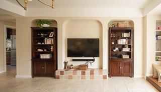 休闲美式客厅电视背景墙装饰