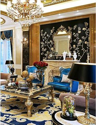 精美欧式新古典沙发背景墙图
