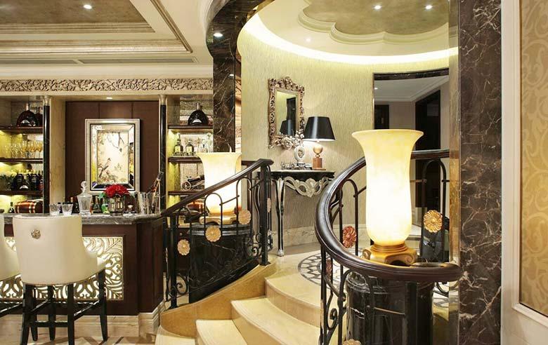 古典欧式别墅楼梯设计图