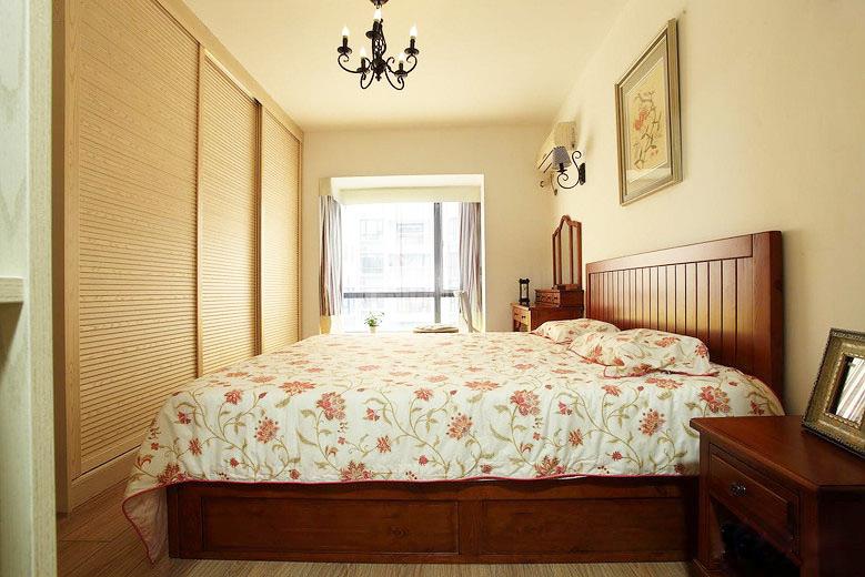 温馨美式田园风主卧室装修