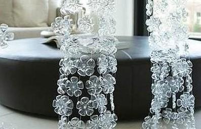 废物利用手工制作方法,矿泉水瓶废物利用制作漂亮窗帘