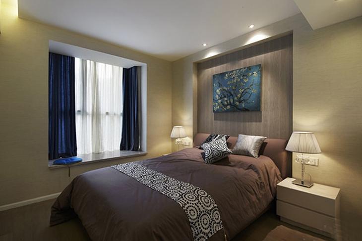 时尚精美新中式卧室效果图