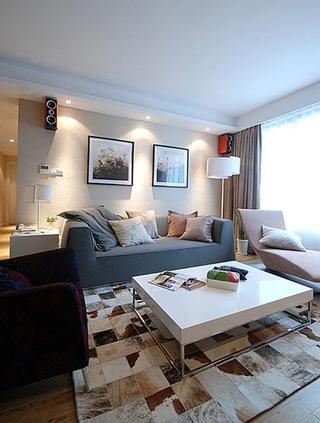 130平温馨简约风格装修客厅设计