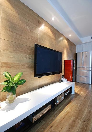 130平温馨简约风格装修电视背景墙