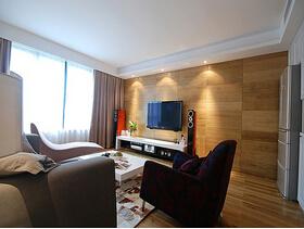 130平咖啡色调简约风格装修  体验时尚现代的空间感