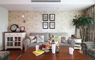 美式田园风格客厅效果图