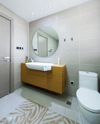 280平简约风格复式楼卫生间效果图