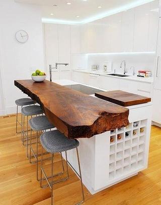 厨房木质吧台效果图装修