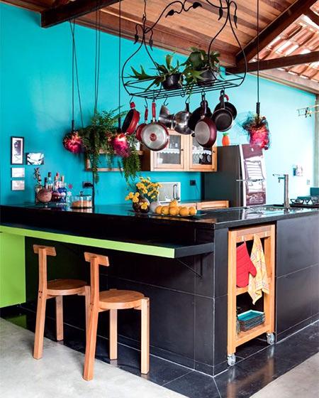 混搭风格厨房吧台效果图