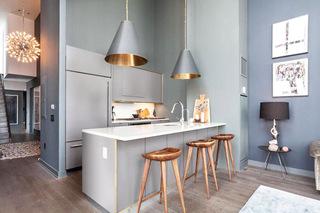 时尚家庭厨房吧台效果图