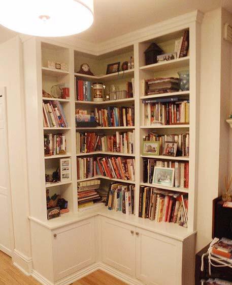 转角书柜布置图片大全