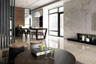 现代简约风格别墅客厅茶几图片