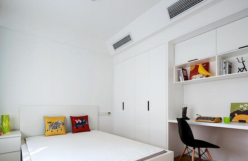 白色简约家居儿童房设计