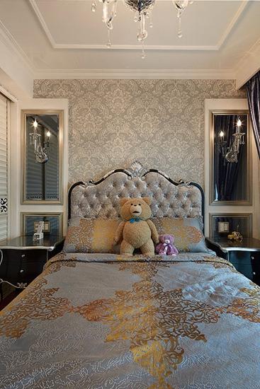 130平新古典风格装修新古典卧室
