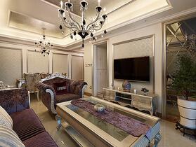 这套公寓设计很特别 奢华欧式新古典三居室