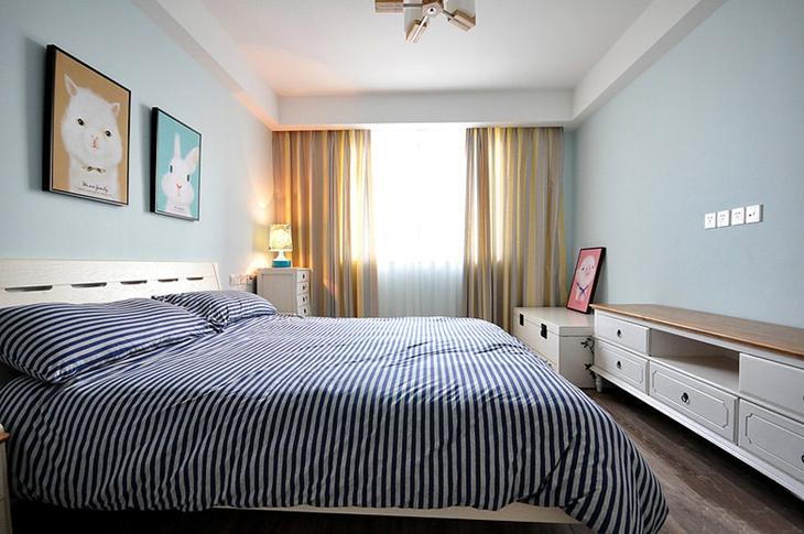 130平三居室新中式装修温馨卧室