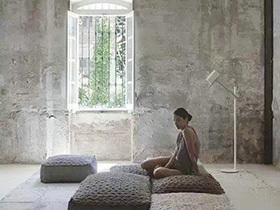 跟彩色背景说再见  10个客厅水泥墙造型设计图