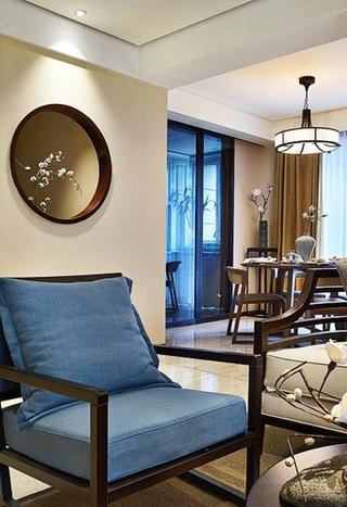 优雅简中式实木沙发设计