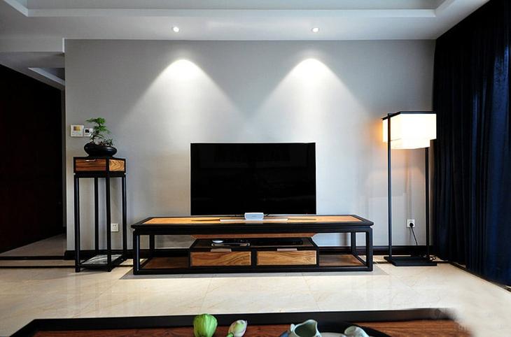 简约新中式客厅 电视背景墙效果图