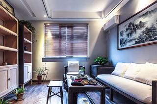 实木复古中式客厅效果图