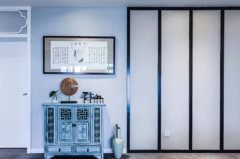 160平中式风格三居室玄关柜图片