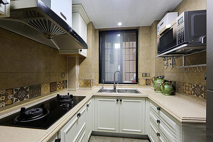 乡村美式混搭风厨房设计