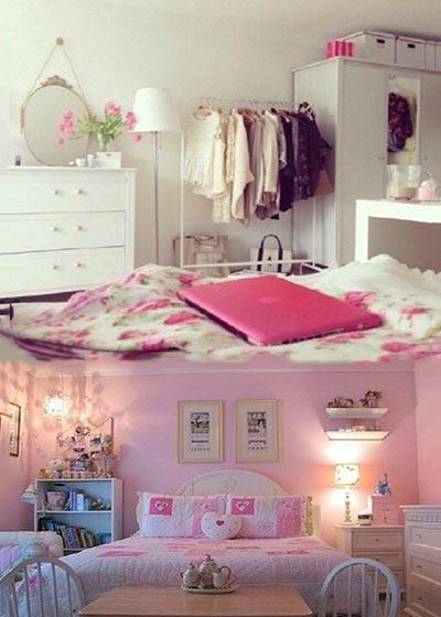 粉色女孩卧室装修效果图