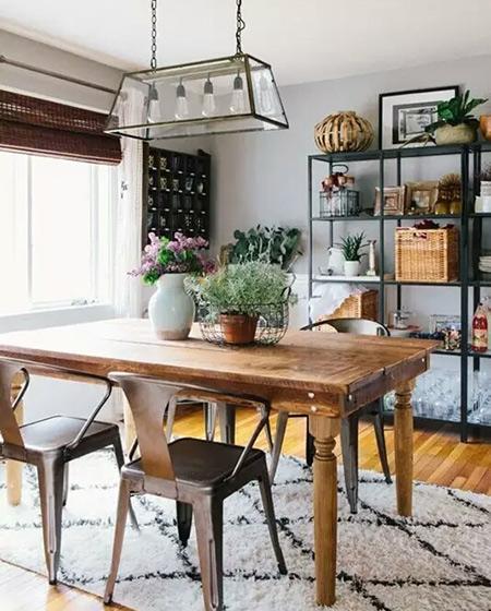 餐厅木质家具效果图
