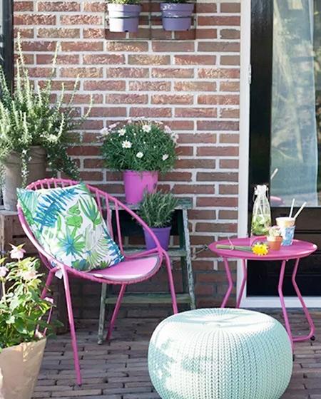 阳台休闲椅靠垫图片