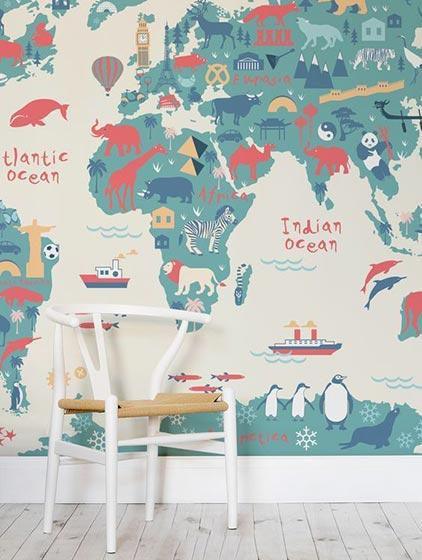 客厅墙面壁纸创新图片
