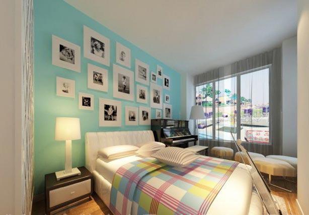 卧室床头背景照片墙图片