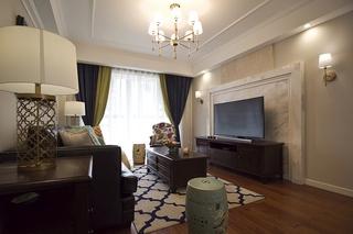 典雅品质美式客厅效果图
