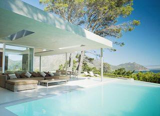 庭院游泳池装修效果图