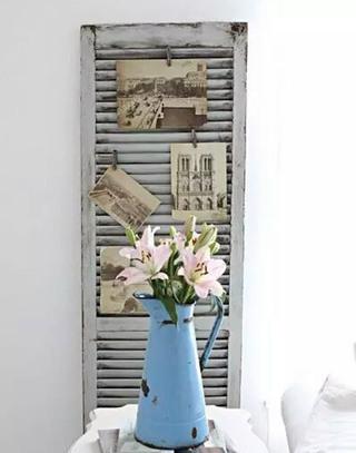 旧木门改造照片墙设计图