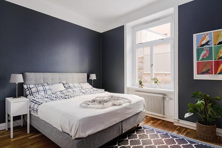 时尚简洁北欧风卧室效果图