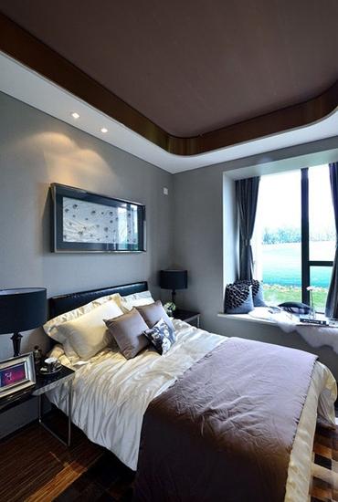 110平现代简约风格装修卧室设计