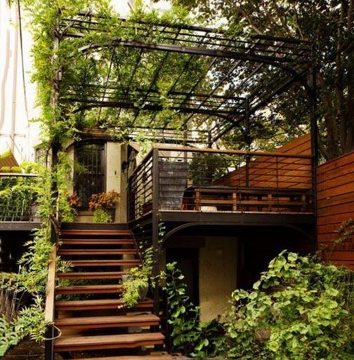 楼梯室内花园图片大全