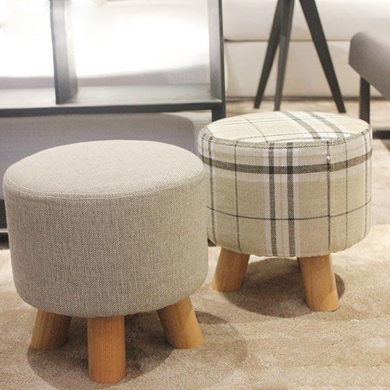 客厅圆椅子布置实景图