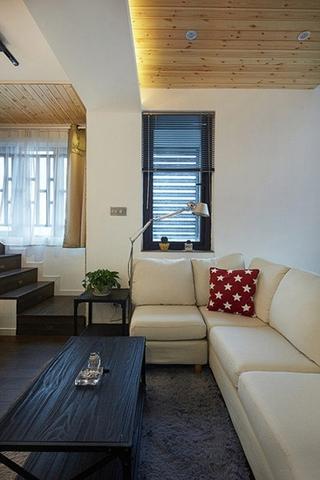 舒适宜家风客厅布艺沙发设计