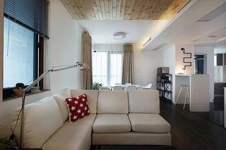 70平小户型loft装修布艺沙发