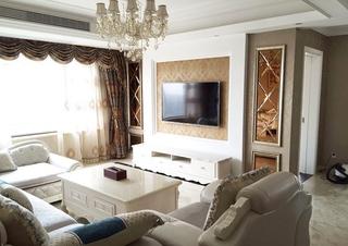奢华风欧式风格装修客厅效果图