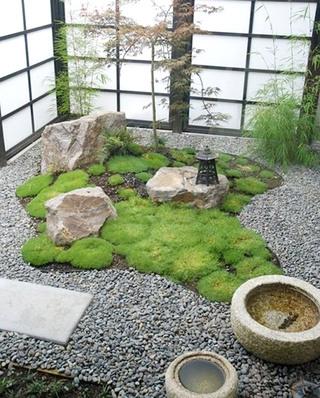 日式风格庭院装修装潢图