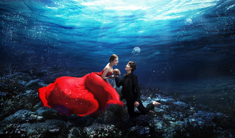 水下婚纱摄影拍摄技巧,水下婚纱摄影哪家好,水下婚纱摄影多少钱 齐家网图片