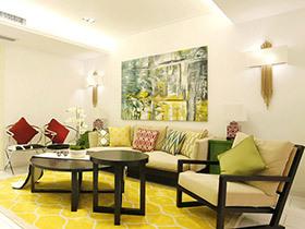 200平混搭风格复式楼装修 和谐的撞色美学