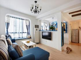 地中海风格三房两厅装修  海洋般的清新