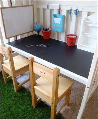 婴儿床改造书桌平面图