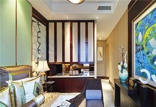 实木东南亚风卧室隔断设计