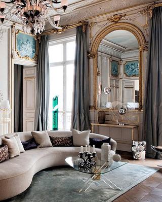 优雅法式风格客厅效果图大全